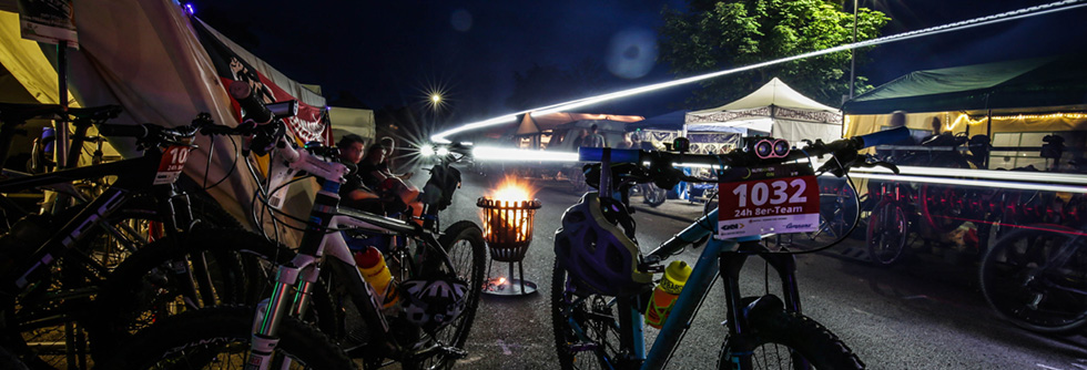 Anfahrt zur Night on Bike Team